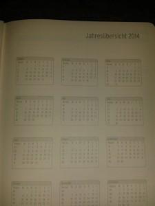Jahresübersicht 2014